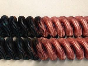 Kupfer gebeizt beizen Galvanik Lohnbearbeiter Lohnbearbeitung Trommelteile Trommelware Gestellteile Gestellware